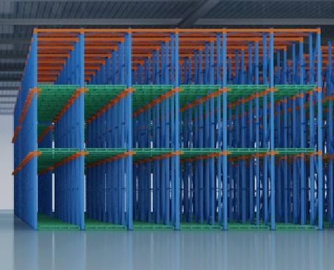 柳州市贯通式货架应用案例